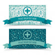 Medical banners set — Vector de stock #23467806