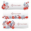 Medical banners set — Vector de stock #23676723