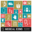 Medical background. metro style — Vector de stock #23778731