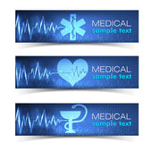 Medicinsk banners set — Stockvektor