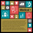 Medical background. Metro style — Vector de stock #23852517