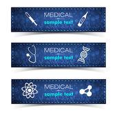 Conjunto de bandeiras médica — Vetorial Stock