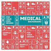 Formação médica. estilo metro — Vetorial Stock