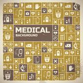 Medicinsk bakgrund. metro-stil — Stockvektor
