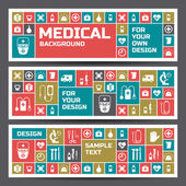 Medical banners set — Stock Vector