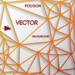 Abstract triangle vector background - Stockvektor