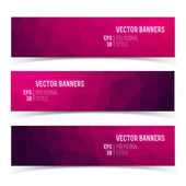 Abstract triangle banners set — Stock Vector