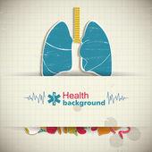 Banner médica com ícones — Vetorial Stock