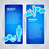 医療コンセプト バナー セット — ストックベクタ