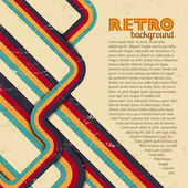 Fondo retro, vintage. — Vector de stock