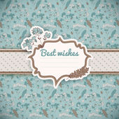 Vintage flowers background. Greetings card — Stock Vector