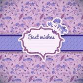 Vintage flowers background. Greetings card — Stock Vector