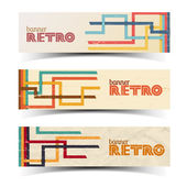 Abstract retro banners set, vintage. — Stock Vector