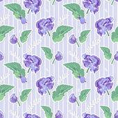 Vintage flowers seamless pattern — Stock Vector