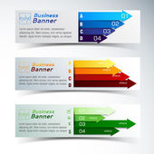 Business concept banners set — Stock Vector