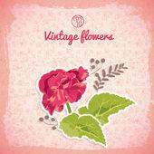 Vintage flowers background — Cтоковый вектор