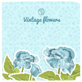 Vintage flowers background — Stock Vector