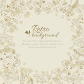 Vintage flowers background with text field — Stock Vector