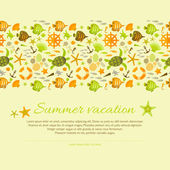 Fondo de verano — Vector de stock