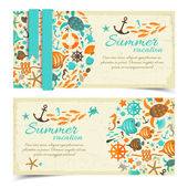 Summer banners set — Stock Vector