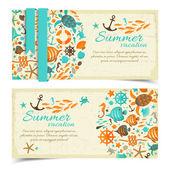 Summer banners set — Stock Vector