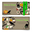 Halloween banners set — Stock Vector