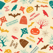 Halloween seamless pattern — Cтоковый вектор