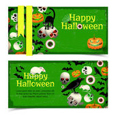 Sistema de banners de halloween — Vector de stock