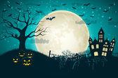 Halloween partij achtergrond — Stockvector