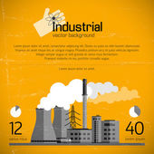Industrial background — Stockvector