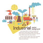 Industrial background with text fields — Stock Vector