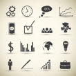 Stock vektor: Business icon set.