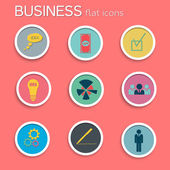 Business icon set. Flat style — Stock Vector
