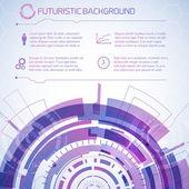 Modern virtual technology background — Stock Vector