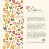 Autumn background. Doodle style — Stock Vector