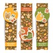 Autumn banners set. Doodle style — Stock Vector #29090155