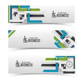 Modern design. Business banners set — Stockvektor