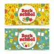 Stock Vector: Back to school banners set