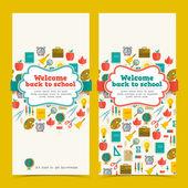 Terug naar school banners set — Stockvector