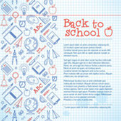 Back to school background — Vettoriale Stock