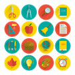 School icon set — Stock Vector #29441181