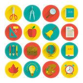 School icon set — Stock Vector