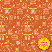 Back to school seamless pattern — Stock Vector