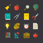 School icon set — Stock Vector