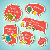 Back to school banners set — Stock Vector