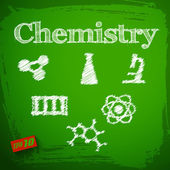 Back to school background. Chemistry — Stock Vector