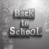Tillbaka till skolan bakgrund — Stockvektor
