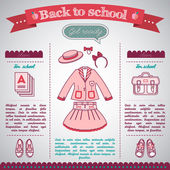 Back to school background — Wektor stockowy