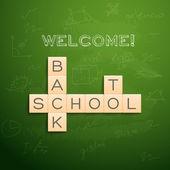 Back to school background — 图库矢量图片