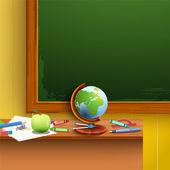 Green chalkboard. — Stock Vector
